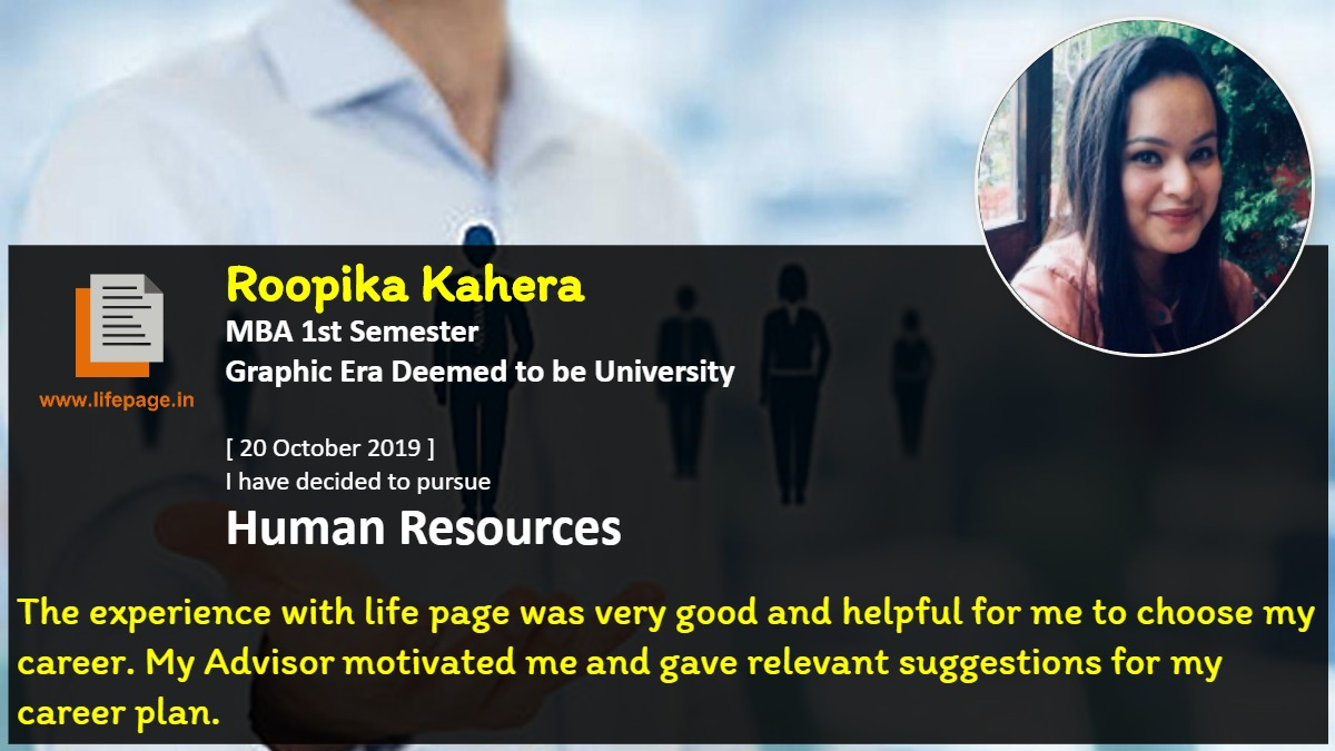 The experience with life page was very good and helpful for me to choose my career. My Advisor motivated me and gave relevant suggestions for my career plan.