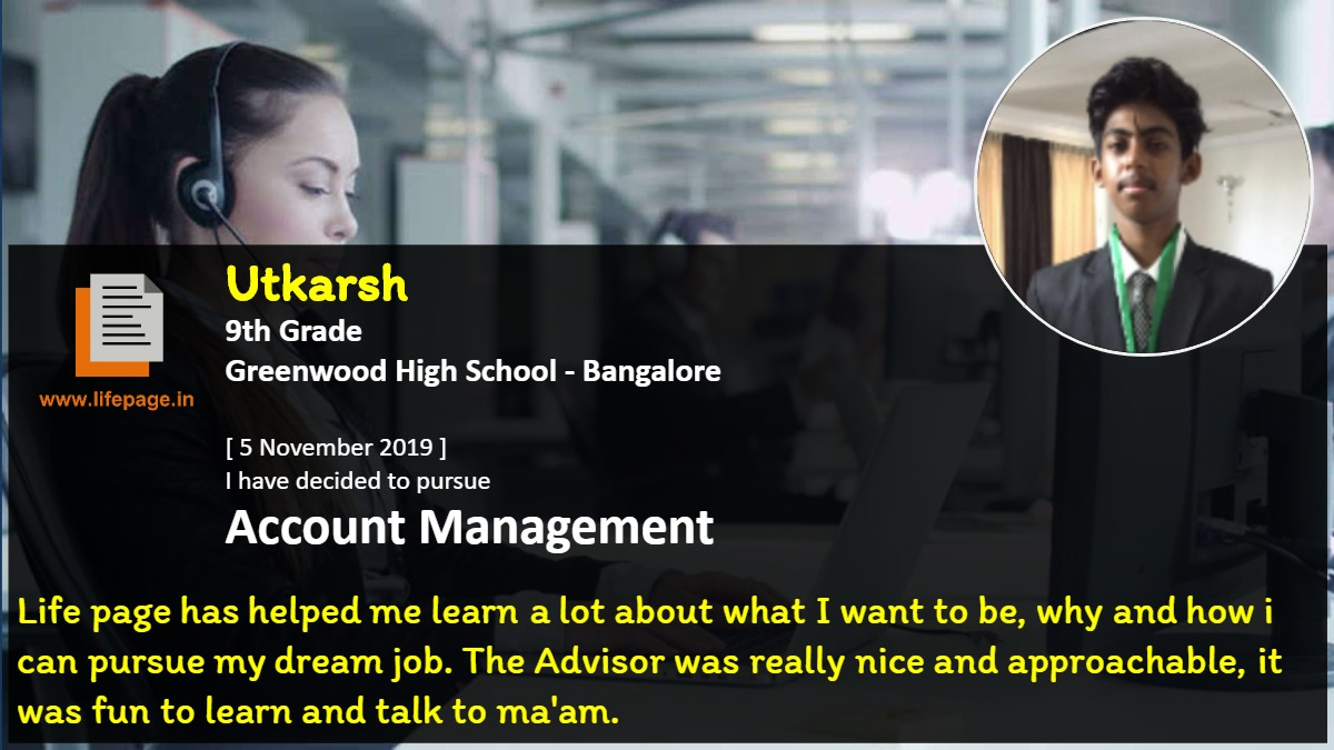 Life page has helped me learn a lot about what I want to be, why and how i can pursue my dream job. The Advisor was really nice and approachable, it was fun to learn and talk to ma'am.