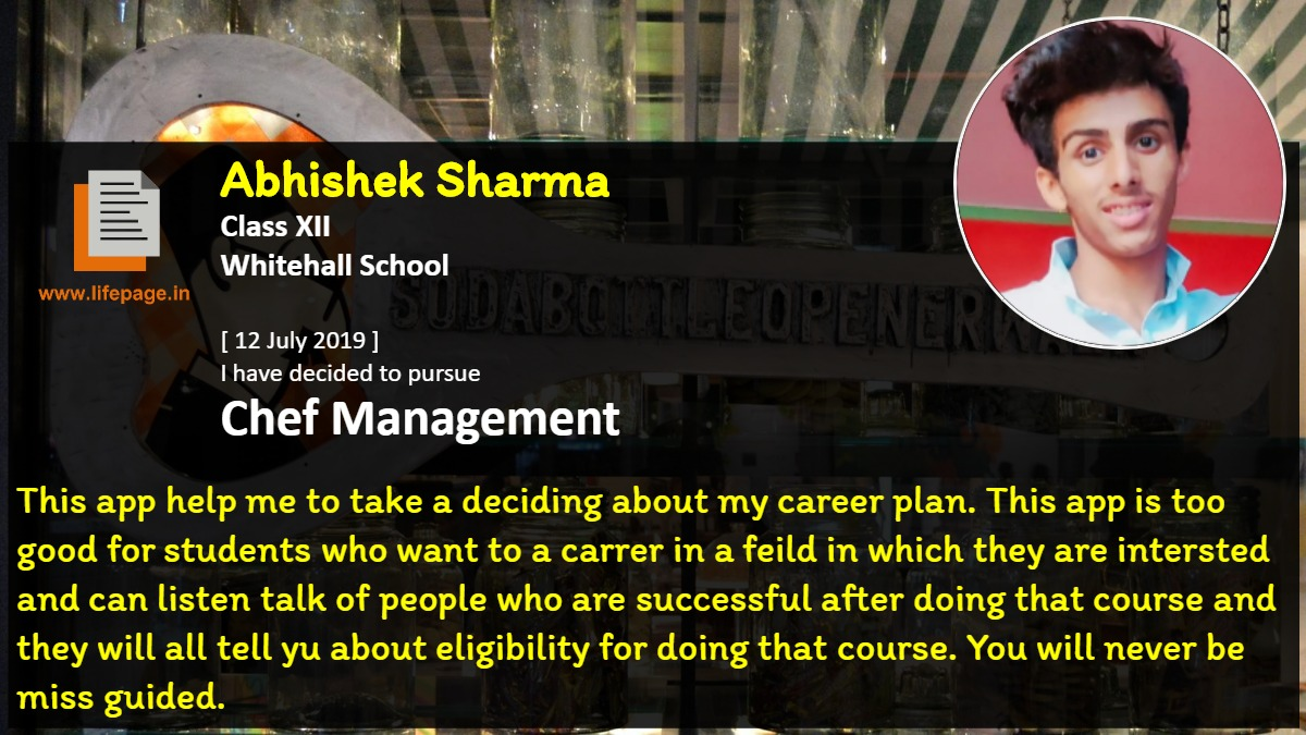 This app help me to take a deciding  about  my career plan. This app is too good for students who want to a carrer in a feild in which they are intersted and can listen talk of people who are successful after doing that course  and they will all tell yu about eligibility for doing that course. You will never be miss guided.