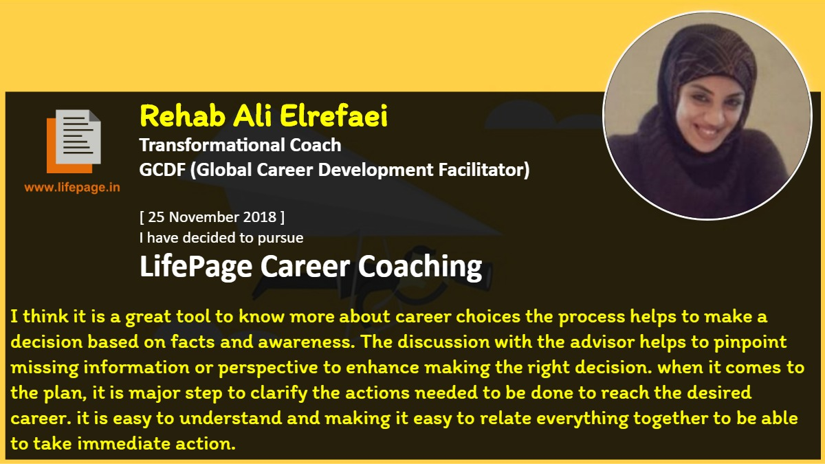 I think it is a great tool to know more about career choices the process helps to make a decision based on facts and awareness. The discussion with the advisor helps to pinpoint missing information or perspective to enhance making the right decision. when it comes to the plan, it is major step to clarify the actions needed to be done to reach the desired  career. it is easy to understand and making it easy to relate everything together to be able to take immediate action.