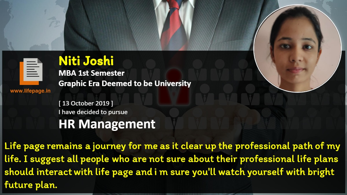 Life page remains a journey for me as it clear up the professional path of my life. I suggest all people who are not sure about their professional life plans should interact with life page and i m sure you'll watch yourself with bright future plan.