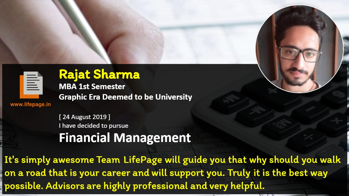 It's simply awesome Team LifePage will guide you that why should you walk on a road that is your career and will support you. Truly it is the best way possible. Advisors are highly professional and very helpful.