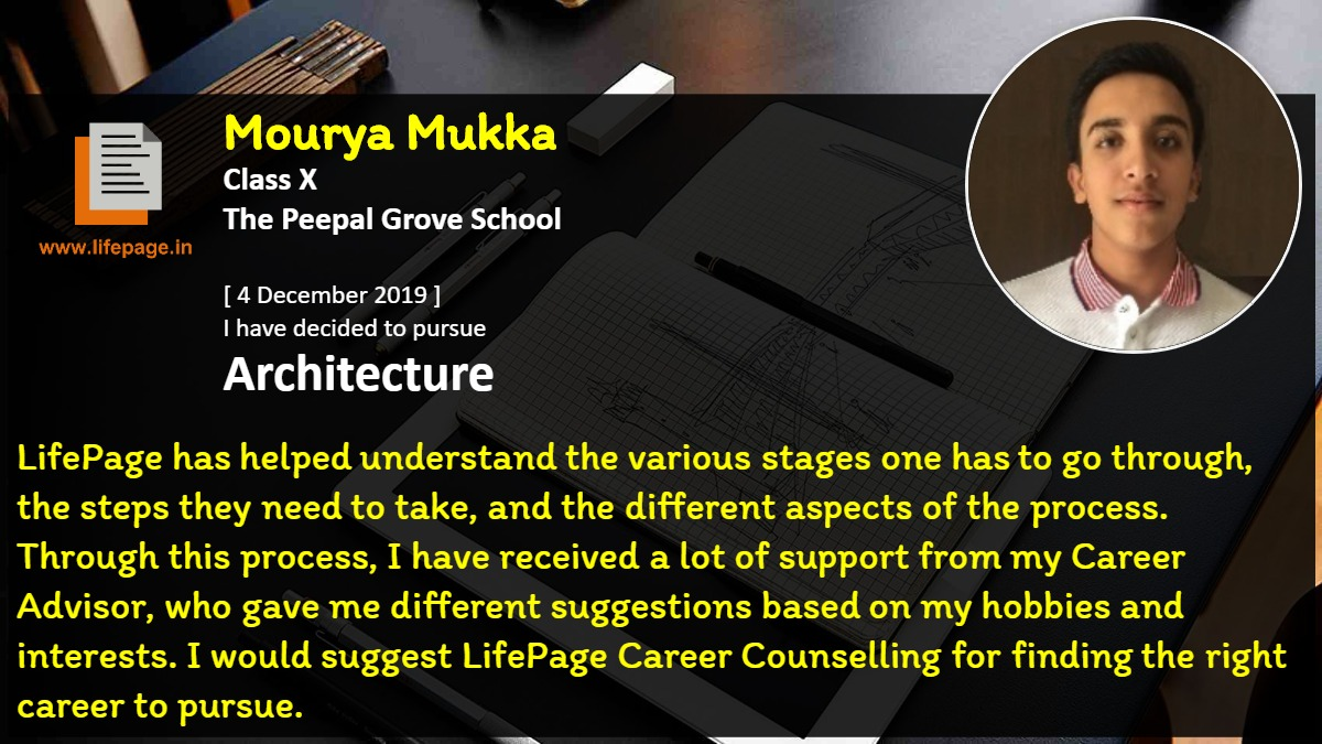 LifePage has helped understand the various stages one has to go through, the steps they need to take, and the different aspects of the process. Through this process, I have received a lot of support from my Career Advisor, who gave me different suggestions based on my hobbies and interests. I would suggest LifePage Career Counselling for finding the right career to pursue.
