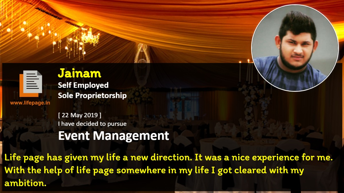 Life page has given my life a new direction. It was a nice experience for me. With the help of life page somewhere in my life I got cleared with my ambition.