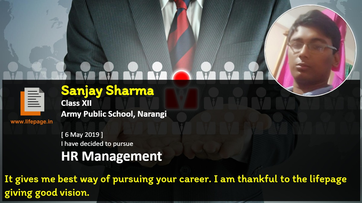 It gives me best way of pursuing your career. I am thankful to the lifepage giving good vision.
