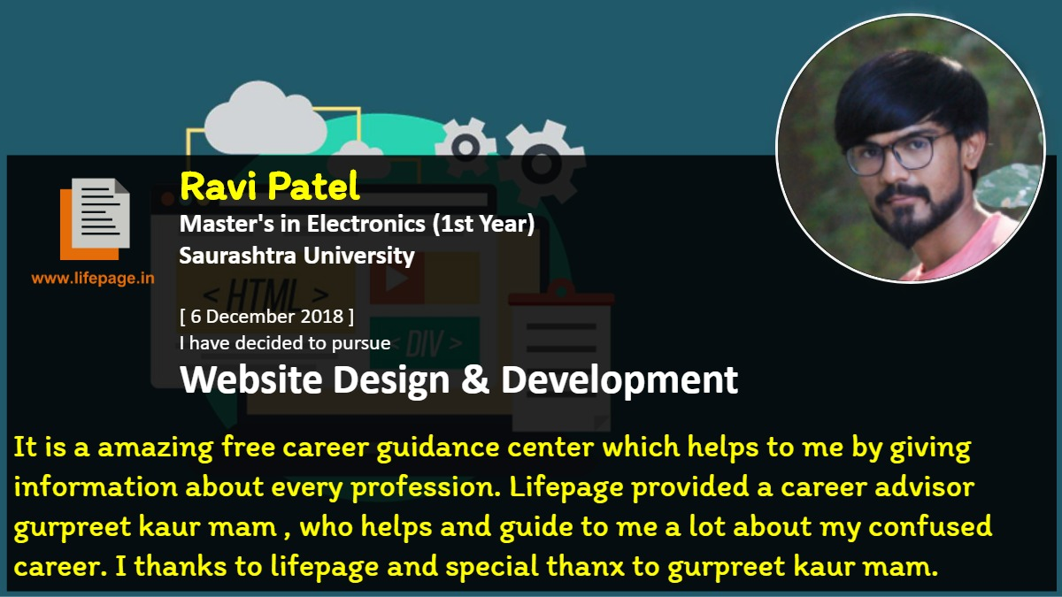 It is a amazing free career guidance center which helps to me by giving information about every profession. Lifepage provided a career advisor gurpreet kaur mam , who helps and guide to me a lot about my confused career. I thanks to lifepage and special thanx to gurpreet kaur mam.