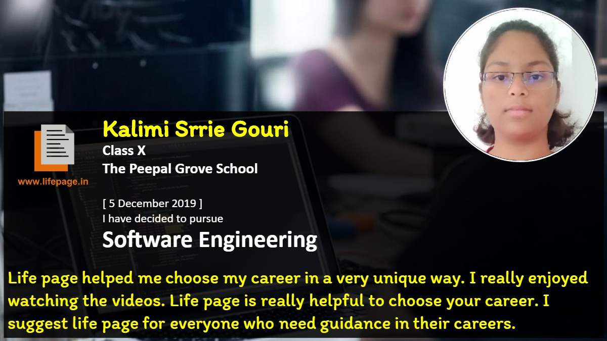 Life page helped me choose my career in a very unique way. I really enjoyed watching the videos. Life page is really helpful to choose your career. I suggest life page for everyone who need guidance in their careers.