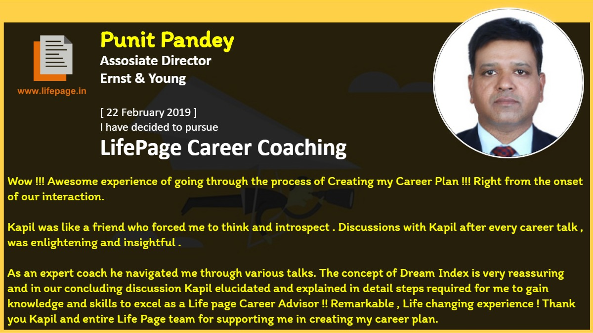 Wow !!! Awesome experience of going through the process of Creating my Career Plan !!! Right from the onset of our interaction.