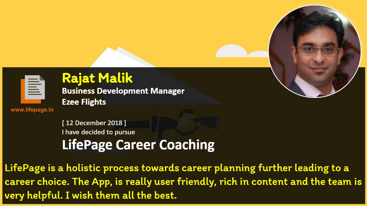 LifePage is a holistic process towards career planning further leading to a career choice. The App, is really user friendly, rich in content and the team is very helpful. I wish them all the best.