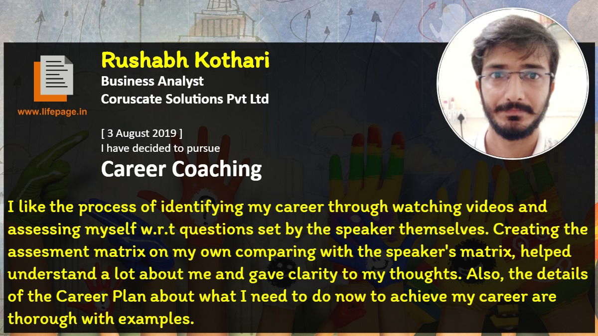 I like the process of identifying my career through watching videos and assessing myself w.r.t questions set by the speaker themselves. Creating the assesment matrix  on my own comparing with the speaker's matrix, helped understand a lot about me and gave clarity to my thoughts. Also, the details of the Career Plan about what I need to do now to achieve my career are thorough with examples.