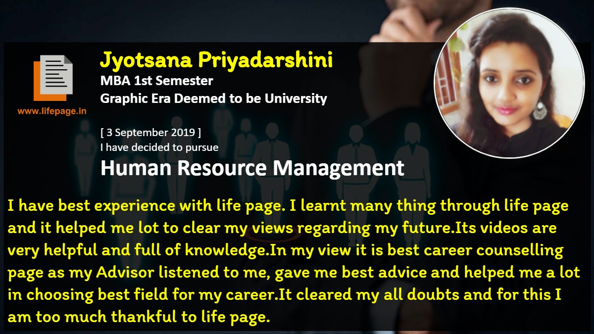I have best experience with life page. I learnt many thing through life page and it helped me lot to clear my views regarding my future. Its videos are very helpful and full of knowledge. In my view it is best career counselling page as my Advisor listened to me, gave me best advice and helped me a lot in choosing best field for my career. It cleared my all doubts and for this I am too much thankful to life page.