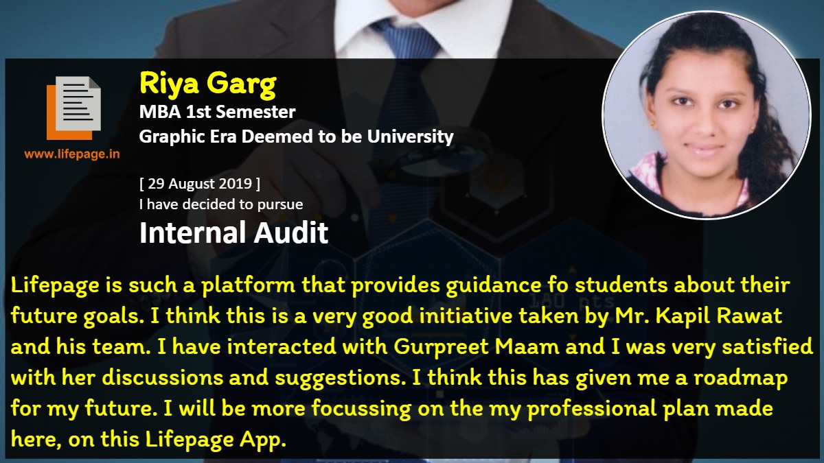 Lifepage is such a platform that provides guidance fo students about their future goals. I think this is a very good initiative taken by Mr. Kapil Rawat and his team. I have interacted with Gurpreet Maam and I was very satisfied with her discussions and suggestions. I think this has given me a roadmap for my future. I will be more focussing on the my professional  plan made here, on this Lifepage App.