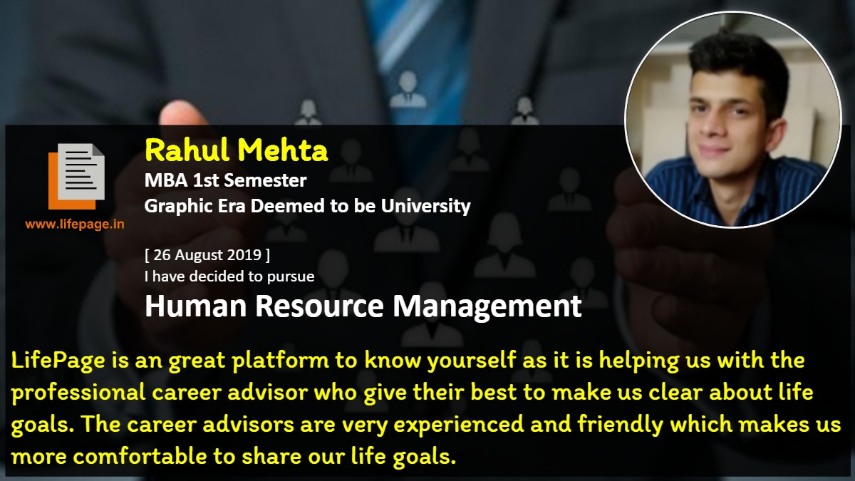 LifePage is an great platform to know yourself as it is helping us with the professional career advisor who give their best to make us clear about life goals. The career advisors are very experienced and friendly which makes us more comfortable to share our life goals.
