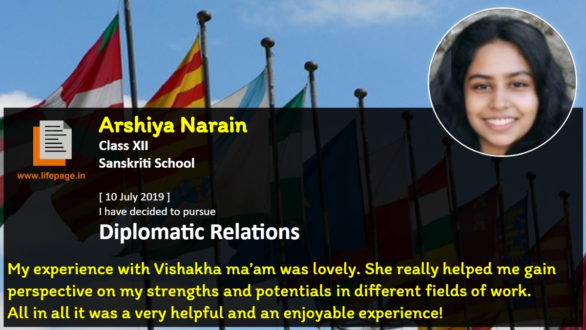 My experience with Vishakha ma'am was lovely. She really helped me gain perspective on my strengths and potentials in different fields of work. 
