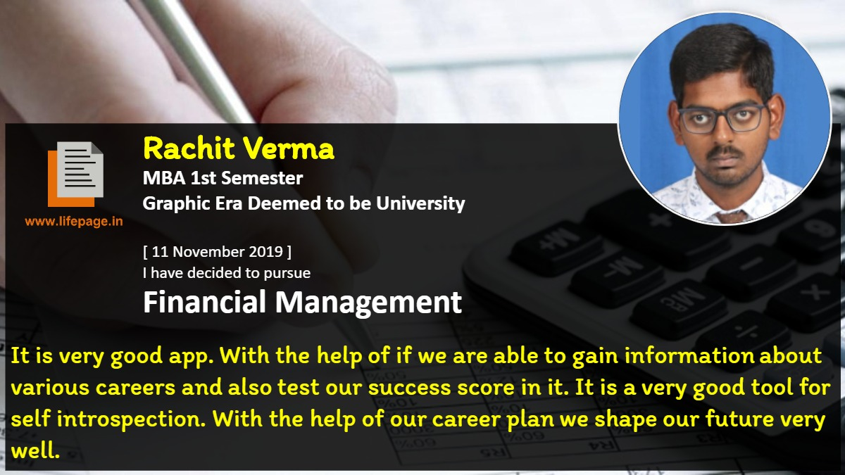 It is very good app. With the help of if we are able to gain information about various careers and also test our success score in it. It is a very good tool for self introspection. With the help of our career plan we shape our future very well.